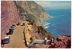 Chapmans Peak, 1968 (mallix) Tags: old holiday vintage southafrica postcard memories memory era change 1970 1960s worldcup 1970s apartheid 2010 1960 chapmanspeak soccerworldcup worldcup2010 1968capetown fifa2010