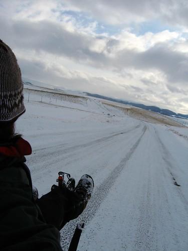 Icy roads, near Damal, Turkey