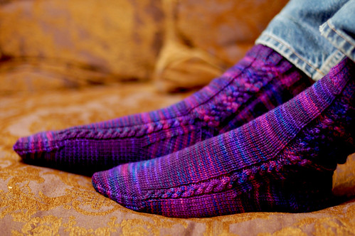 Aran Braid Socks
