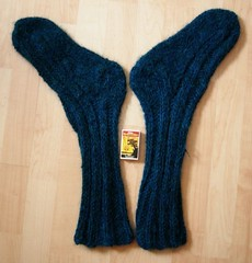 January socks after felting