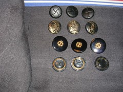 buttons for grey jacket