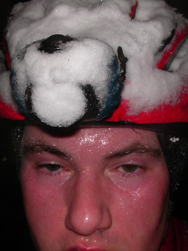Snow ride self-portrait