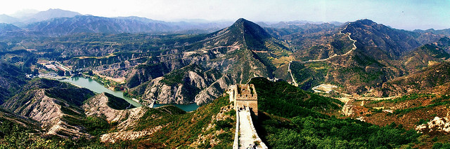 Panorama@The Great Wall, China