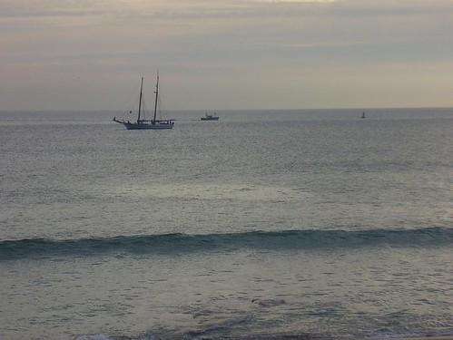 Barcos na baía de Sesimbra - 11 de Janeiro de 2007