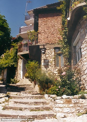 A typical street in Ohrid's Old Town