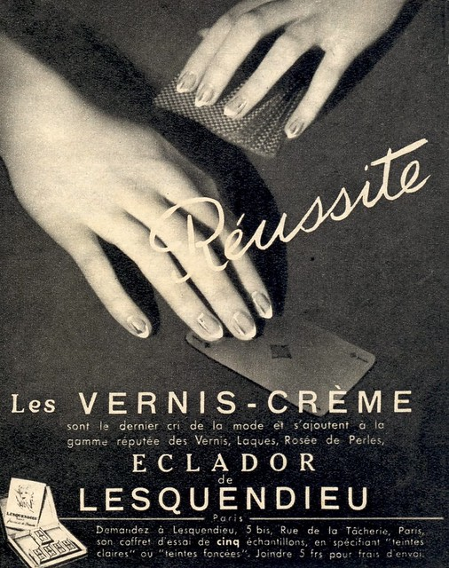 Réussite nail varnish, 1950s