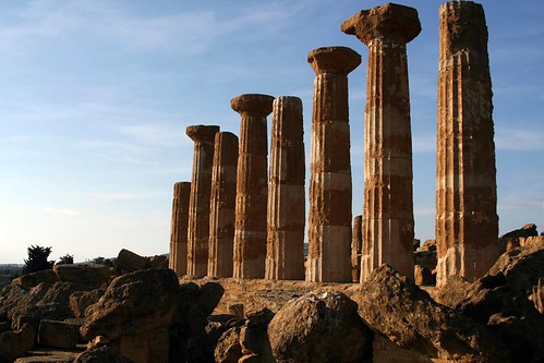 Raised columns of the Temple of Hercules