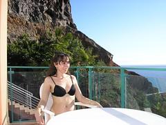 In the Balcony (! .  Angela Lobefaro . !) Tags: 2005 trip travel vacation woman sexy girl beautifu