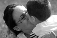 Mum (Roby1kenobi) Tags: people bw love portraits d50 nikon affection mother mum mummy caughtintheact motherlove bwportraits bwpeople mumandchild roby1kenobi robertomignanego httpwwwrobertomignanegocom