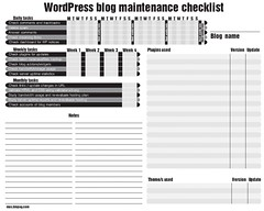 Blog tasks checklist