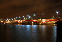 Blackfriars bridge by night (*Firefox) Tags: longexposure london thames night geotagged stpauls blackfriarsbridge whiteredwhite geo:lat=51508502 geo:lon=0107567
