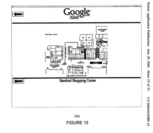 Google Kiosk Showing Mall Layout