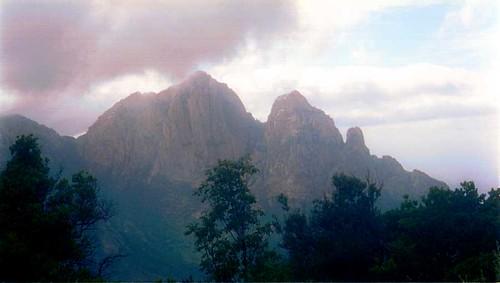 Face Est du Capu d'Ortu depuis Bocca a Pertusella