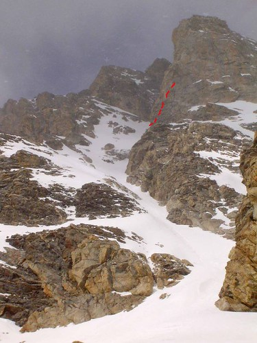 Chouinard Couloir on the Middle Teton