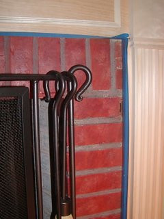 Faux Brick Wall Fireplace
