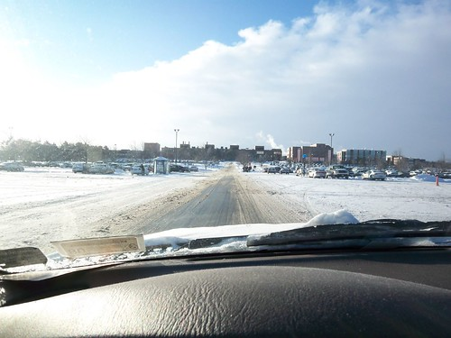 Winter's Drive: On the RIT campus and looking for parking
