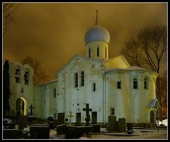 Hagia Elia ([ Petri ]) Tags: church night finland helsinki cemetary hietaniemi ortodox