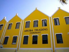 Aruba Trading Company (Musical Mint) Tags: trip travel summer vacation sun holiday beach yellow architecture buildings island paradise carribean aruba oranjestad musicalmint