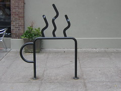 Custom bike rack in Portland, OR.