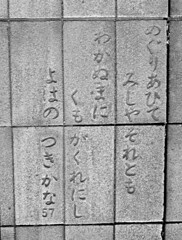 #8629 poem in street tiles (Nemo's great uncle) Tags: tokyo poem    setagayaku tky kamiyga