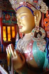 Buddha statue at Thikse monastery (bobwitlox) Tags: buddha monastery himalaya thikse ladakh