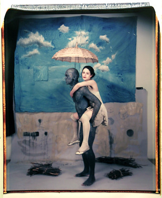The Scout. 20 x 24 inch Polaroid Lucky Diamond Rich and Nicole Valentina