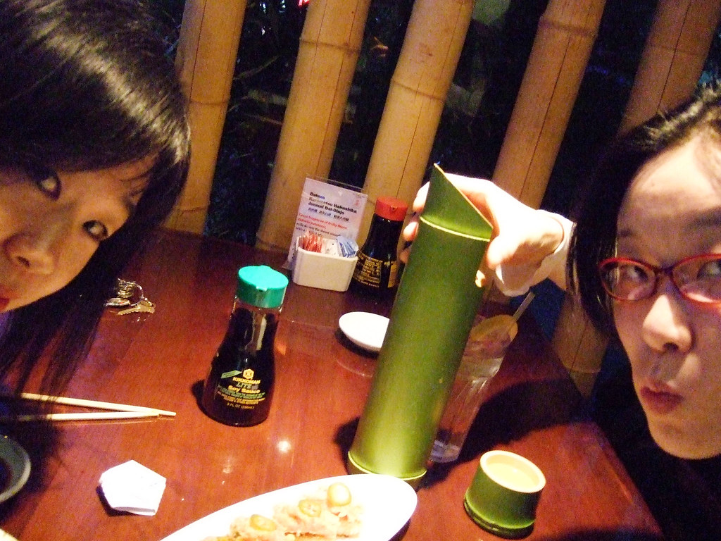 JoAnne drank the entire contents of that bamboo sake bottle.