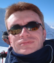 Skiing. I am SO cool - just look at those shades.