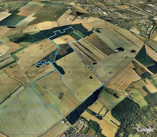 20070209 - balade des Closeaux - Google Earth avec trajet