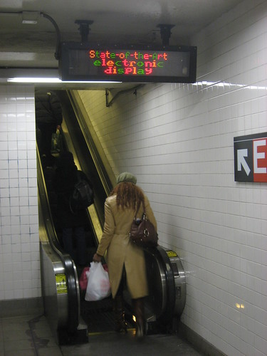 electronic subway sign