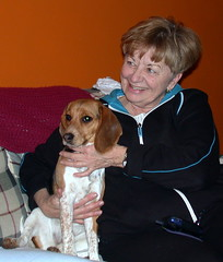 Mom & Lucy (dcsaint) Tags: family people dog animal mom lucy nikon pennsylvania pa nikoncoolpix995 e995 dcsaint christmanfamily