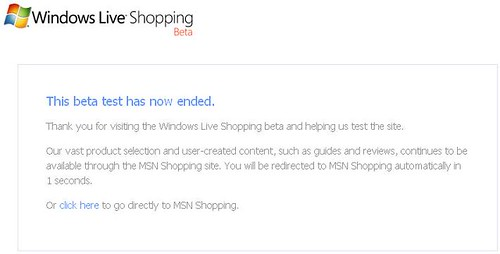 Windows Live Shopping Beta