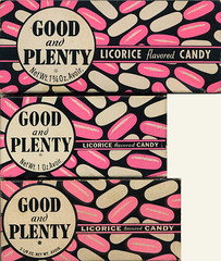 Good & Plenty candy boxes