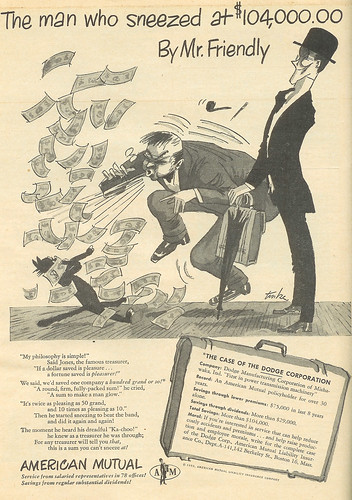 Vintage Ad #175 - The Man Who Sneezed at $104,000 (and no cents)