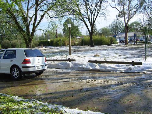 hail drifts