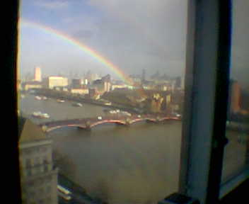 Rainbow from Millbank Tower