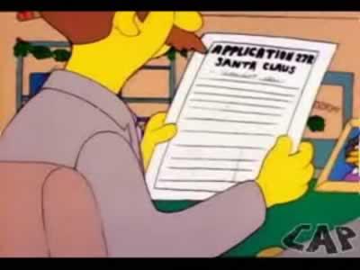 Homero Simpson como Papa Noel