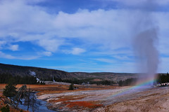 A Geyser Rainbow For My Friends (Fort Photo) Tags: nature landscape rainbow nikon bravo nps yellowstonenationalpark yellowstone wyoming geyser geothermal 2007 erruption fireholeriver naturesfinest beehivegeyser outstandingshots specland specnature abigfave anawesomeshot colorphotoaward impressedbeauty superbmasterpiece diamondclassphotographer flickrdiamond