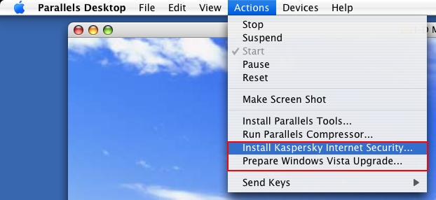 Parallels Antivirus Feature