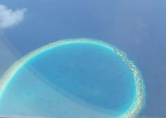 Atoll (scalley) Tags: ocean coral island aerial maldives atoll  20070221