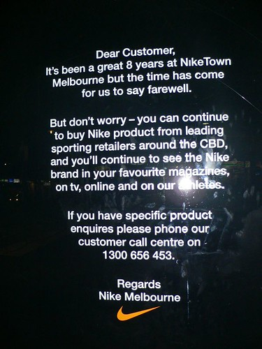 nike melbourne closed