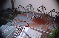 """...when the merry go round broke down...woo-hoo...woo-hoo..."" (krotpong) Tags: abandoned merrygoround daffyduck statehospital"
