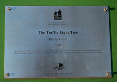 Traffic Light Explanation (kateyay) Tags: light tree london plaque traffic pierre council description eastlondon vivant towerhamlets trafficlighttree pierrevivant