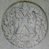 Cameron Highlanders (Leo Reynolds) Tags: cemetery cemeterybrompton militarybadge squaredcircle sqrandom 10up3 26000th sqlondon sqset016 canon eos 350d 0004sec f10 iso400 50mm 0ev xleol30x military badge hpexif xratio1x1x xsquarex xx2007xx