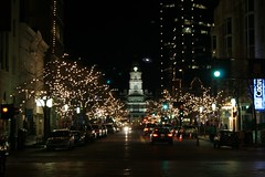 tarrant county courthouse at the end of main stret