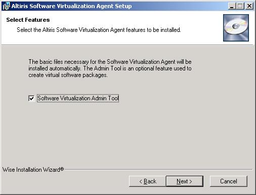 SVS_installazione_select Admin Tool