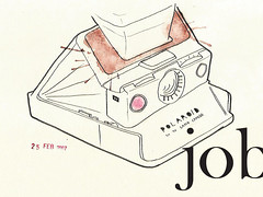 polaroid//job (.ks.1.) Tags: camera moleskine illustration pen pencil ink watercolor polaroid sx70 sketch drawing ks dream series nightmare dummy job ks1 landcamera associate whatdoyouthink