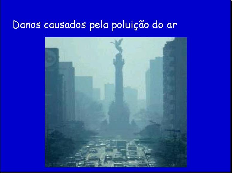 danos causados pela poluição do ar