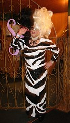 Rita as Cruella De Vil (ritaknight1999) Tags: halloween tv dress cd crossdressing tgirl transgender tranny transvestite crossdresser cruelladevil sequin trannie