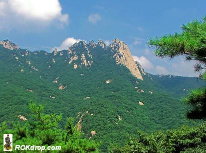 Side profile of Dobong Mountain.